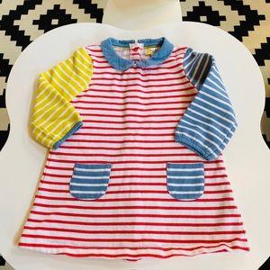 Baby Boden toddler girl stripped dress